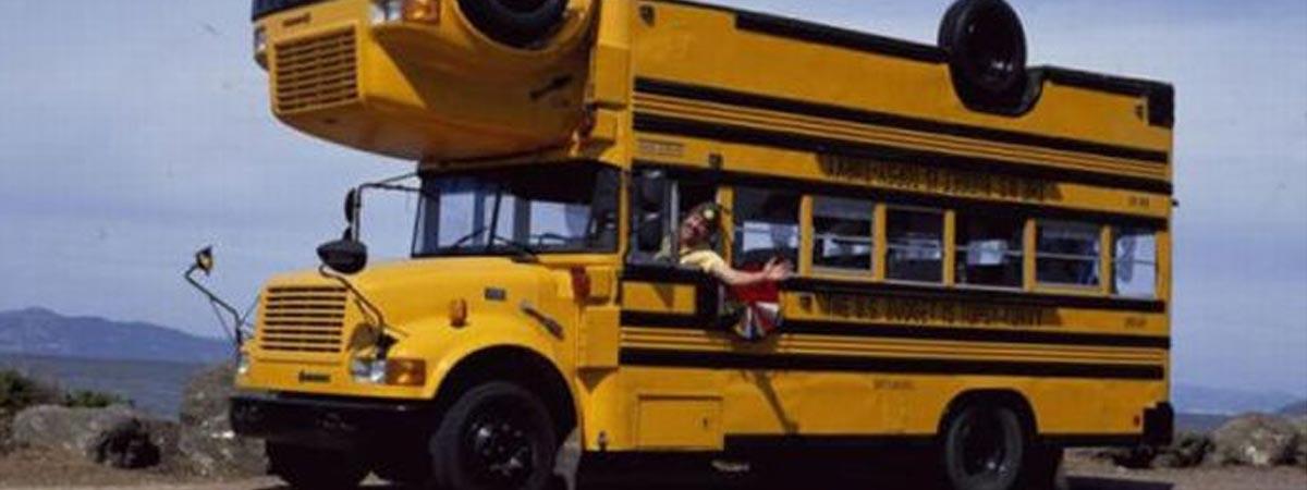 Автобус вверх дном