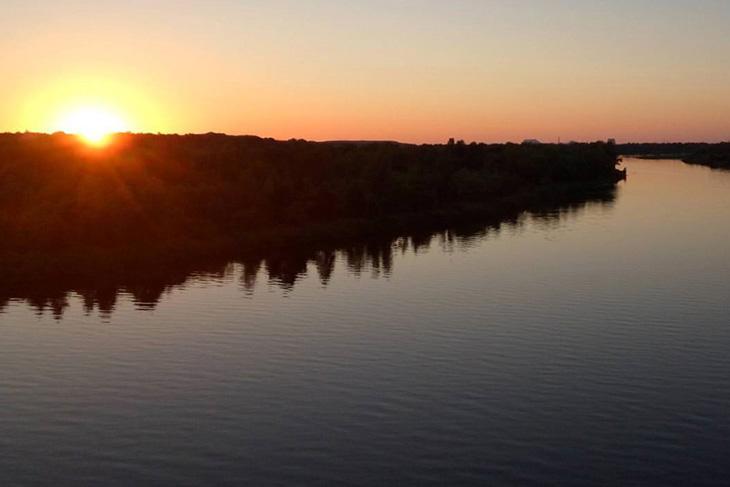 Закат на реке Припять