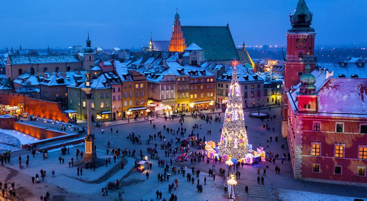 Варшава на Різдво