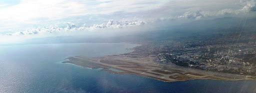 Nice Airport aircraft view