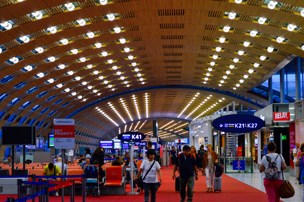 Charles de Gaulle airport interior