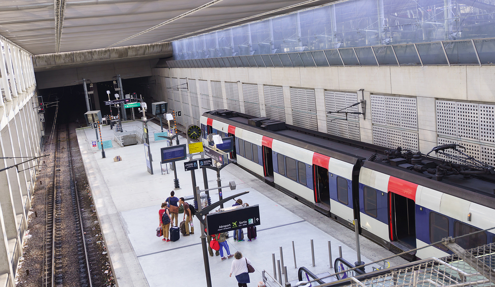 Charles de Gaulle airport train station