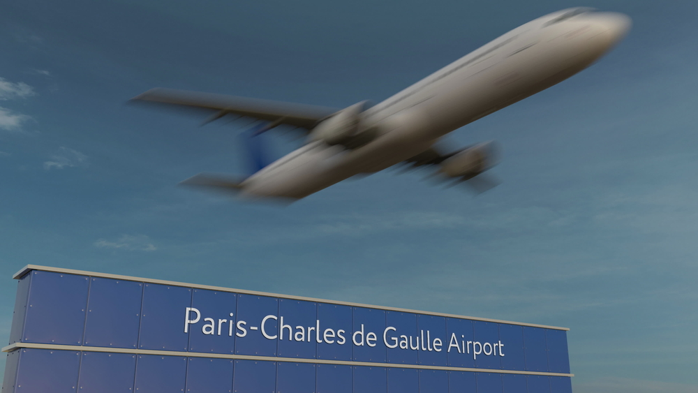 plane at Charles de Gaulle Airport