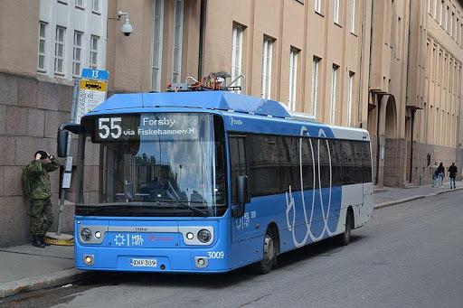 Helsinki airport public bus transfer