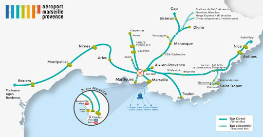 Marseille airport bus routes