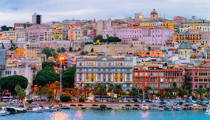 Cagliari - plażowanie w październiku