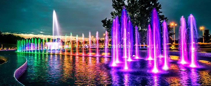 Парк фонтанов в Варшаве