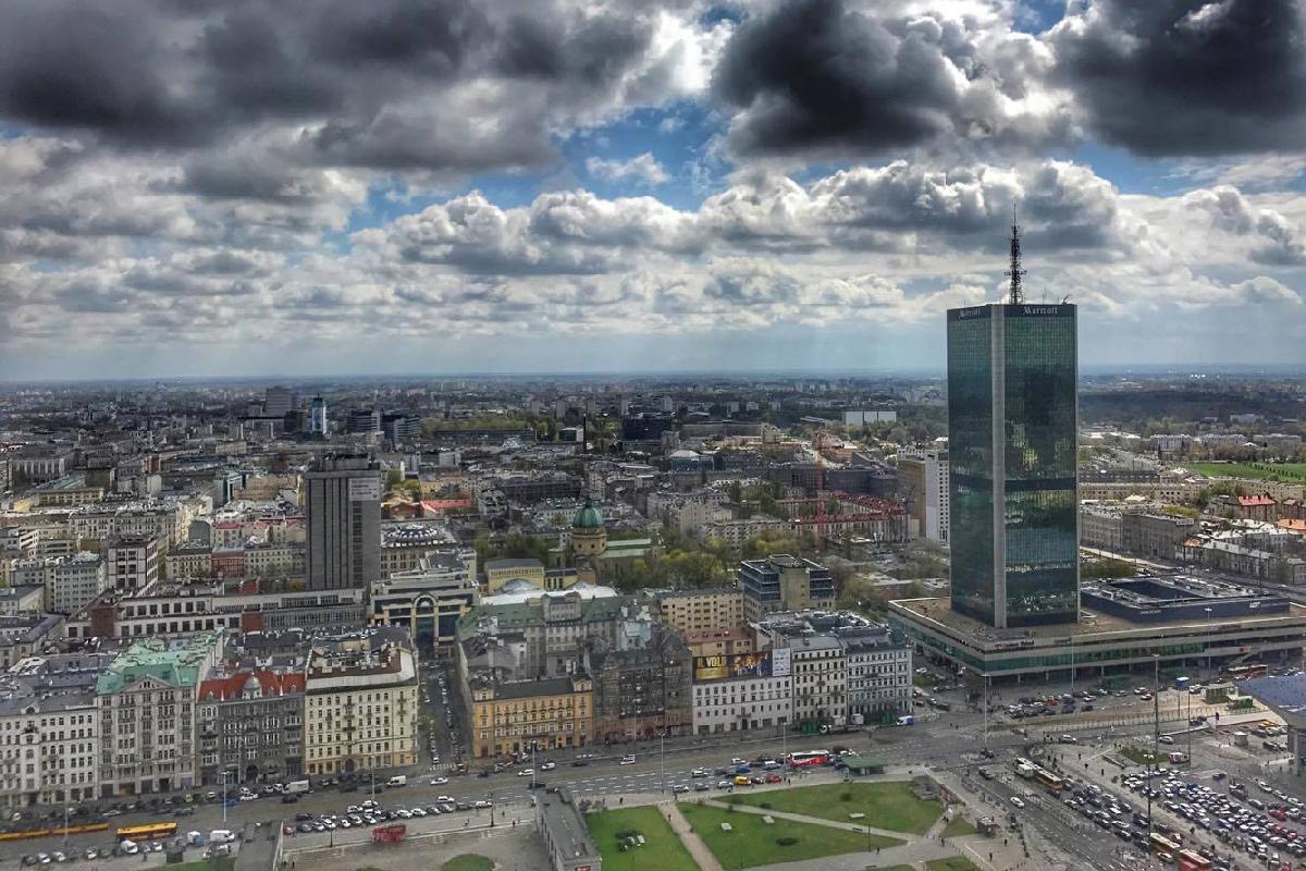 Панорамные виды на Варшаву