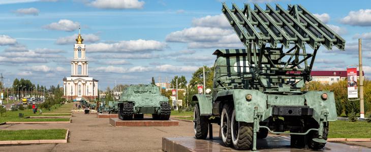 Коллекция военной техники в Курске
